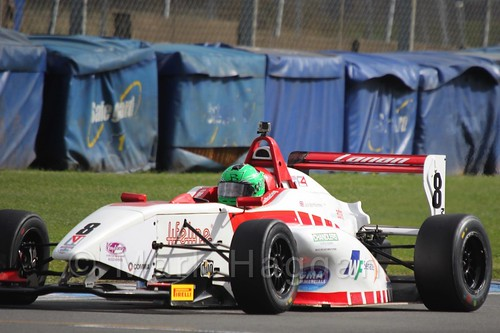 Lanan Racing's Jack Bartholomew in BRDC F4 at Donington Park, September 2015