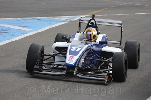 HHC Motorsport's Sisa Ngebulana in BRDC F4 Race Two at Donington Park, September 2015