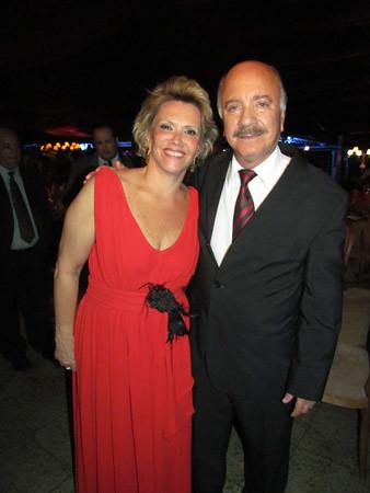 Olga e o presidente da Consul, Matusalém Dias Sampaio