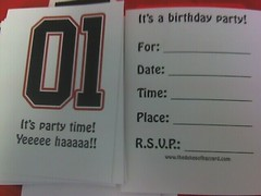 Dukes of Hazzard party invitation