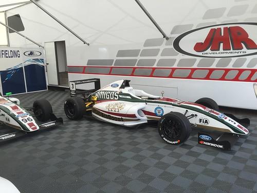 Sennan Fielding's MSA Formula car at Rockingham