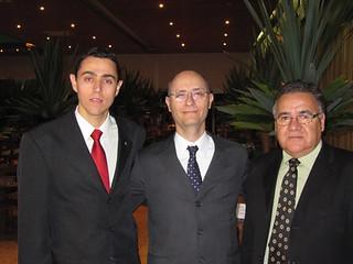 O diretor socail Adriano Villas Boas, o presiddente Cristiano de Lanna e Altair Pereira
