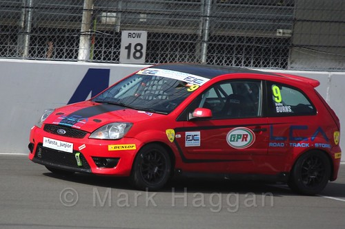 Bradley Burns in Race 1, Fiesta Junior Championship, Rockingham, Sept 2015