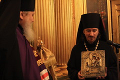 Архиерейское богослужение в Троицком-Кайнарджи