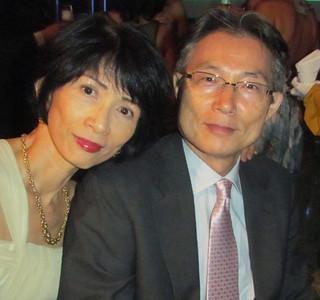 Mariko e Naohiro Doi, diretor da Cenibra