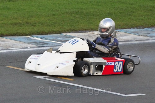 Andy Bird in Superkart racing during the BRSCC Winter Raceday, Donington, 7th November 2015