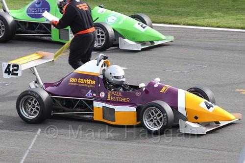 Paul Butcher in Formula Jedi racing at Donington, September 2015