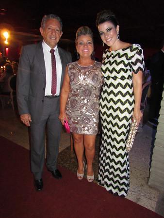 Celestino e Stela Batista com a filha, Ludmila