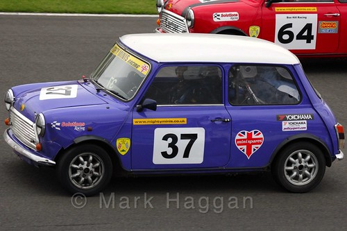 Jim Carolan in Mighty Minis at Donington Park, October 2015