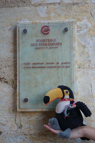 """La ville d'Auch est parcourue de """"pousterles""""."""