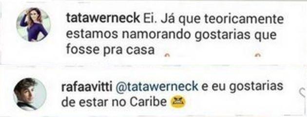 Tatá Werneck faz piada sobre rumores de namoro com Rafael Vitti: 'Gostaria que fosse para casa'