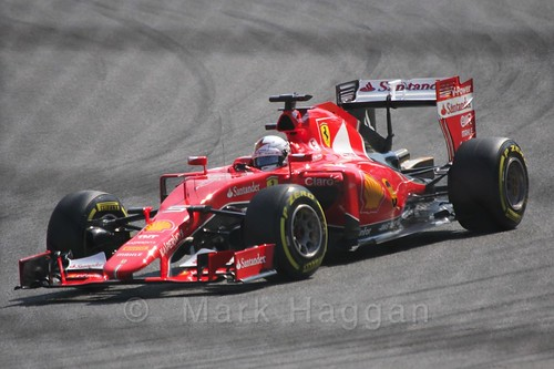 Sebastian Vettel in qualifying for the 2015 Belgium Grand Prix