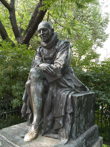 Statue of Michel de Montaigne in Paris