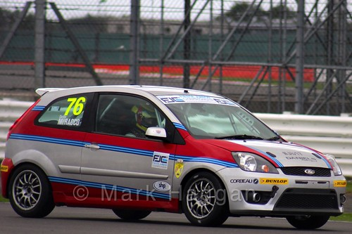 Carlito Miracco in the BRSCC Fiesta Junior Championship at Silverstone, August 2015