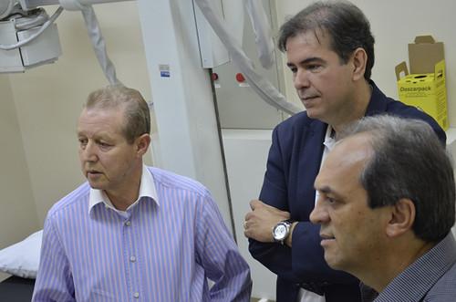 José Maria Facundes, Mauro Oscar Lima e Luciano Araújo - Instalações da Unidade de Oncologia do Hospital Márcio Cunha - Foto Emmanuel Franco  (1)