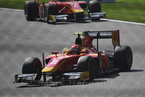 Alexander Rossi in the GP2 Sprint Race at the 2015 Belgium Grand Prix