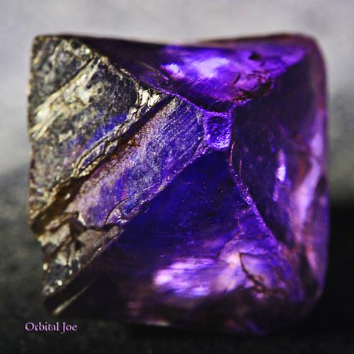 Octahedron Purple Fluorite Crystal by Orbital Joe.