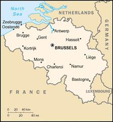 Belgium - map