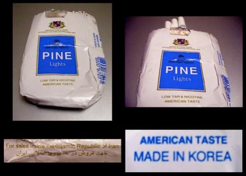 PINE a taste of globalisation in Iran ? La PINE se fume en Iran ?