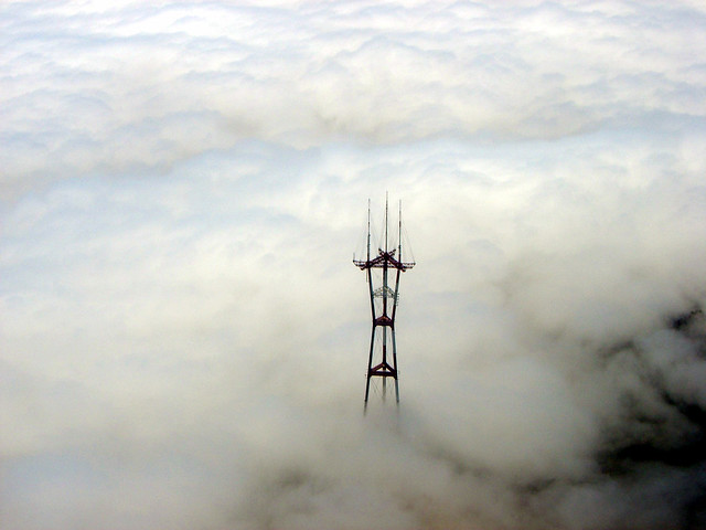 Above Sutro Tower