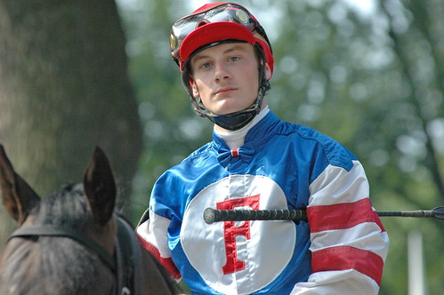 French apprentice Julien Leparoux before the Diana (G1)