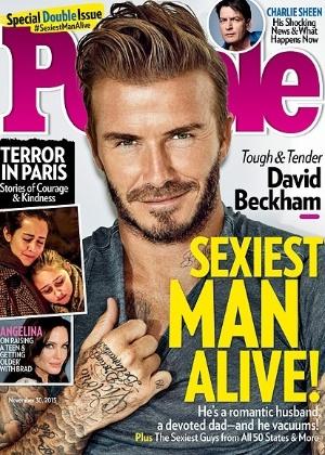 """David Beckham é eleito o homem mais sexy do mundo pela revista """"People"""""""