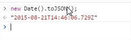 Javascript new Data().toJSON() result