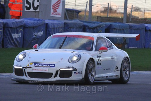 The Porsche GT3 of Mark Radcliffe in Endurance Racing during the BRSCC Winter Raceday, Donington, 7th November 2015