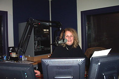 Helen Leicht in the on-air booth