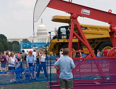 """IMG_9901: Drilling for Oil on the Mall • <a style=""""font-size:0.8em;"""" href=""""http://www.flickr.com/photos/54494252@N00/179892769/"""" target=""""_blank"""">View on Flickr</a>"""
