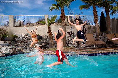 Pool jump!