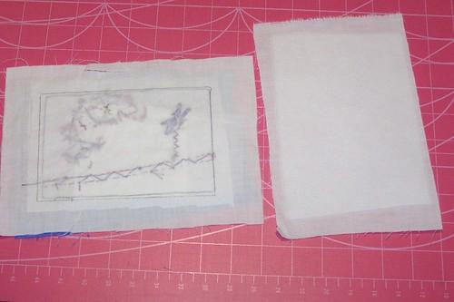 Crazy Quilting Postcard - Tutorial - Step 5