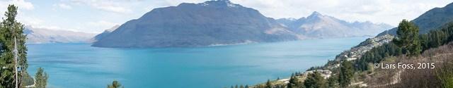 Panorama with Lake Wakatipu