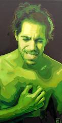 Il tempo della morte (1), olio su tela, 50×100, 2011