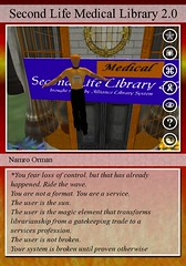 Second Life Medical Library Card