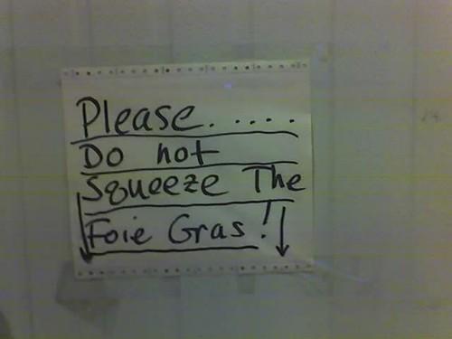 foie gras sign