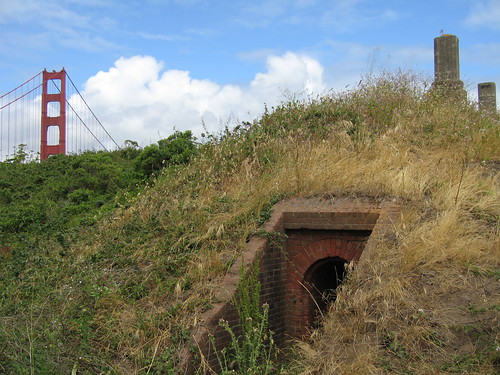 Gun emplacements in the Presidio