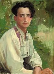 Portrait of Vladimir Aleksandrovich Somov, the artist's nephew, 1925 // by Konstantin Somov (Russian, 1869-1939)