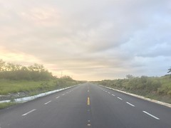 The Road Ahead. Day 186. Really roughing it out here; was able to sit in my tent last night and stream the Eagles game. Feeling great cause of their win and because it's so cloudy today. Gonna be a good day of walking. #TheWorldWalk #travel #mexico #wwthe