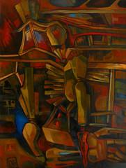 Ouverture I, olio su tela, 60×80, 2006