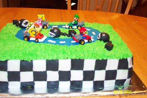 Una carrera de Mario Kart...con forma cicilica.