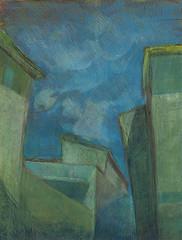 Alatri, olio su carta, 2015