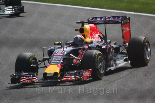 Daniel Ricciardo in the 2015 Belgium Grand Prix