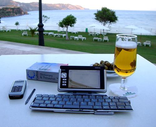 Blogging tools, at Nerja Parador...