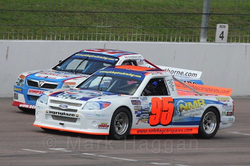 Freddie Lee and Gavin Murray in Pick Up Truck Racing, Rockingham, Sept 2015