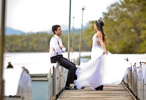 Os noivos em ensaio de Valéria Mattos Studio