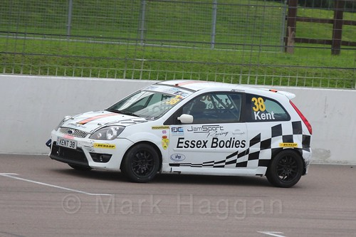 Lewis Kent in Race 2, Fiesta Junior Championship, Rockingham, Sept 2015