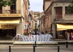 vue sur le chateau des Adhémars qui domine le centre ville de Montélimar
