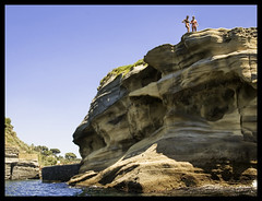 Two Girls on a Cliff