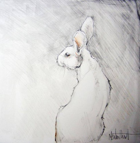 "A White Rabbit • <a style=""font-size:0.8em;"" href=""http://www.flickr.com/photos/15706268@N04/40773392362/"" target=""_blank"">View on Flickr</a>"